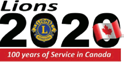 Lions 2020 logo - 100 years of Service in Canada