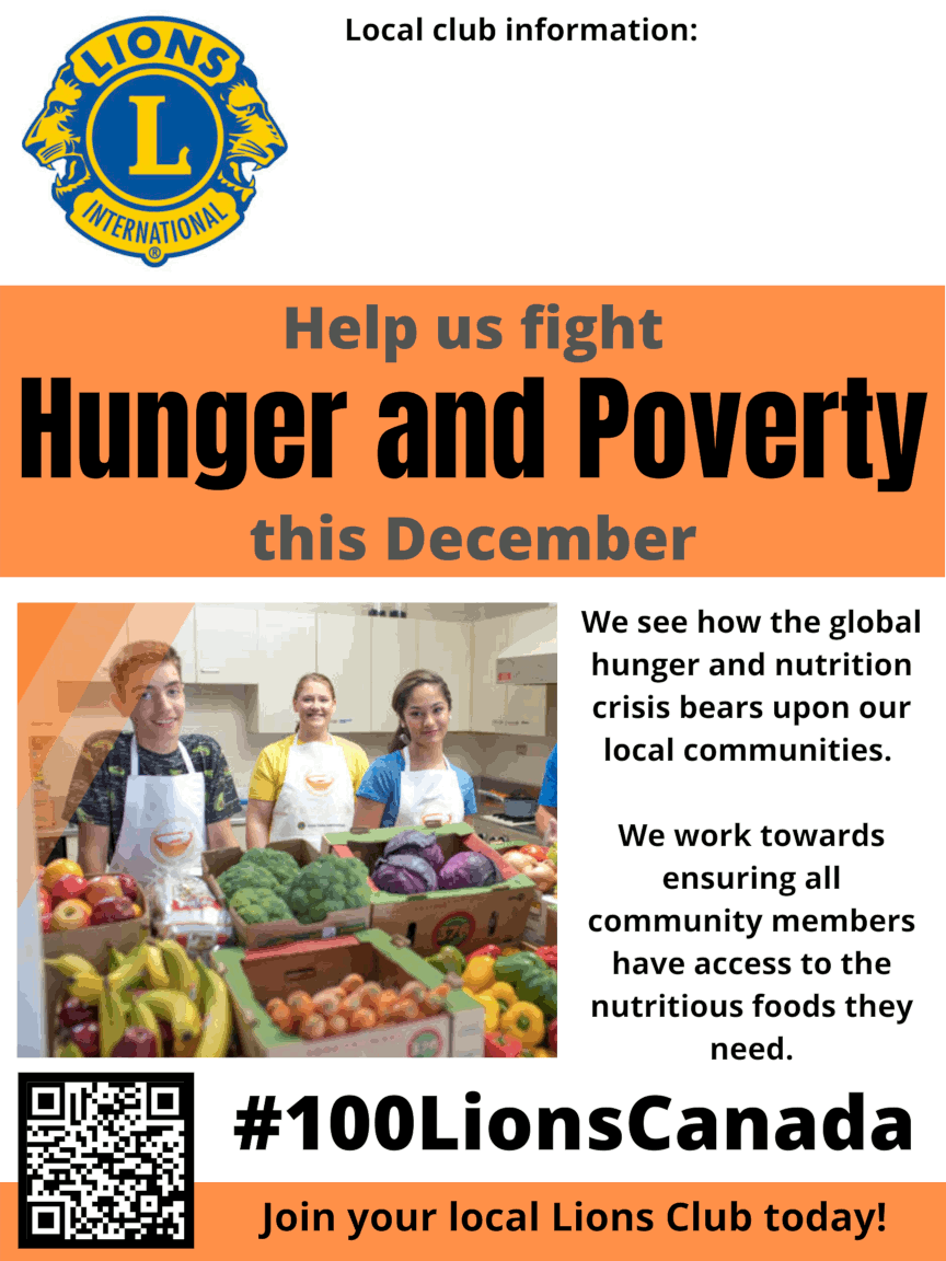 December is Hunger Month Poster